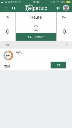 kostenlose KarteikartenApp Repetico