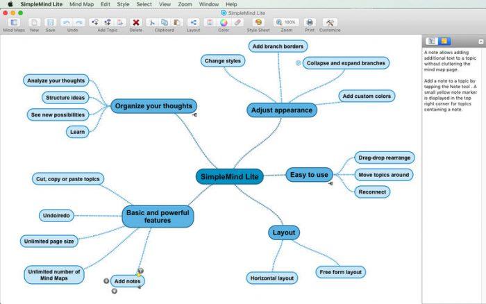 Mindmap App simplemind